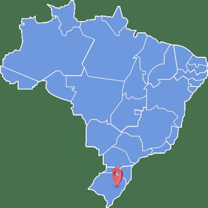 Mapa da Localização Friosul no Brasil